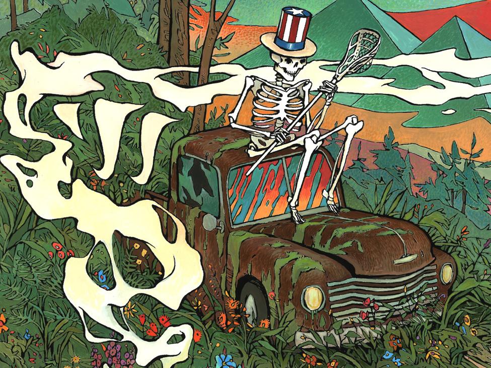 Warrior Lacrosse Grateful Dead Acrylic On Paper Scott