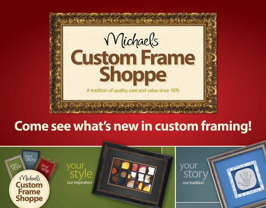 michaels custom frame branding annabel nguyen design portfolio